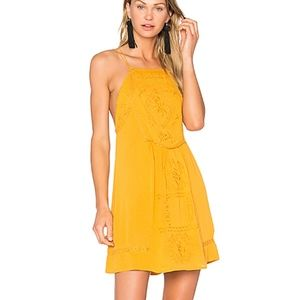 C&C California Dahna Strappy Embroidered Dress